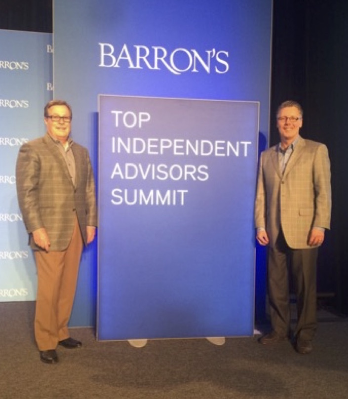 Scott Holley and Patrick Morrow Attends Barron's Event